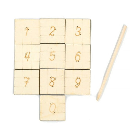 Numbers Tracing Tiles - Handmade Montessori Learning by Playing Materials