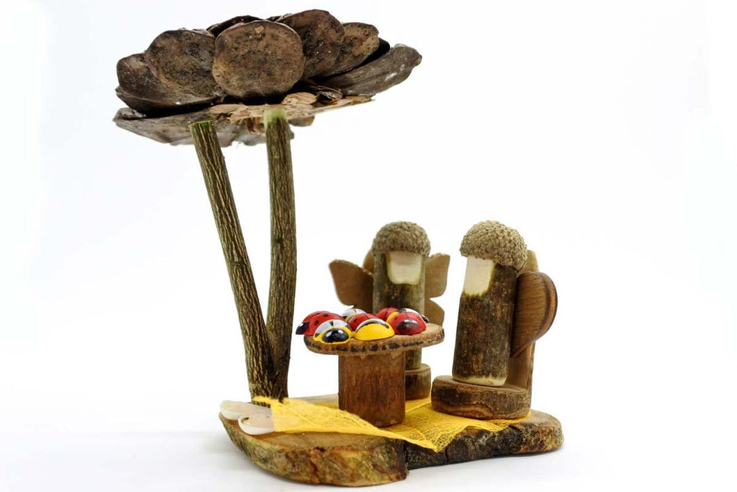 Fairy Pine Sunshade and Furnitures - Waldorf Unique Toy