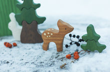 Load image into Gallery viewer, Mom and Baby Deer - Wooden Handmade Montessori Open-ended Toy