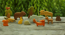 Load image into Gallery viewer, Forest Animals Set - Wooden Handmade Montessori Open-ended Toy