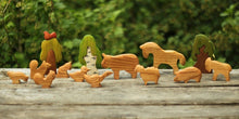 Load image into Gallery viewer, Nature Domestic Animals Set - Wooden Handmade Montessori Open-ended Toy