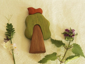 Tree with Bird - Wooden Handmade Montessori Open-ended Toy