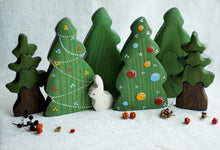 Load image into Gallery viewer, Christmas Tree with Balls - Wooden Handmade Figures
