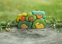 Load image into Gallery viewer, Forest Hide-And-Seek Puzzle -Wooden Handmade Montessori Open-ended Toy