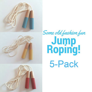 5 Jump Ropes Set - Handmade Waldorf Montessori Active Play Materials