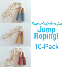 Load image into Gallery viewer, 10 Jump Ropes Set - Handmade Waldorf Montessori Active Play Materials