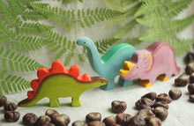 Load image into Gallery viewer, The Stegosaurus - Wooden Dinosaur Handmade Montessori Open-ended Toy