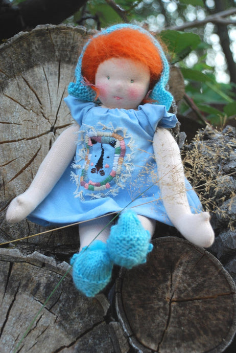 Lene Waldorf Big Doll OOAK - Unique handmade toy