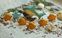 Load image into Gallery viewer, Sea Animals Set - Wooden Handmade Montessori Open-ended Toy