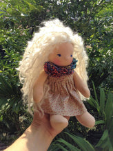 Load image into Gallery viewer, Ava Waldorf Girl Little Doll - Unique handmade toy