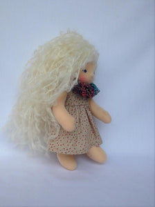Ava Waldorf Girl Little Doll - Unique handmade toy