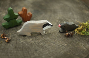 The Badger and the Mole - Wooden Animal Handmade Montessori Open-ended Toy