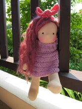 Load image into Gallery viewer, Ines Waldorf Girl Medium Doll - Unique handmade toy