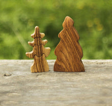 Load image into Gallery viewer, Nature Small and Big Fir Tree - Wooden Handmade Montessori Open-ended Toy