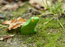 Load image into Gallery viewer, The Frog - Wooden Animal Handmade Montessori Open-ended Toy