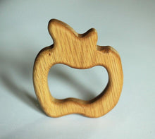 Charger l'image dans la galerie, Apple Teether - Natural Wooden Handmade Eco-Friendly Pacifier