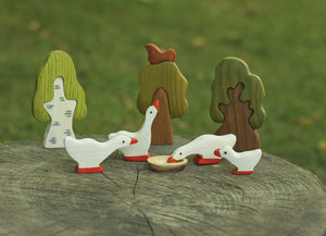 Geese Family - Wooden Handmade Montessori Open-ended Toy