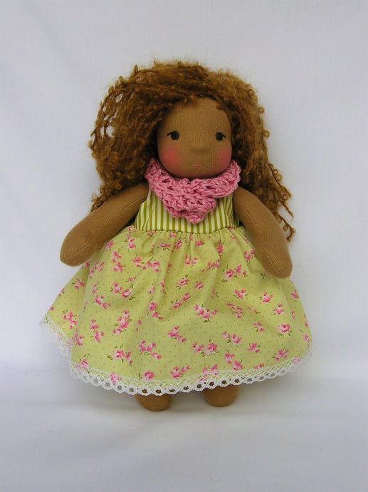Bisa Waldorf Girl Little Doll - Unique handmade toy