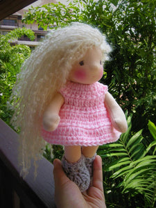 Rasa Waldorf Girl Little Doll - Unique handmade toy