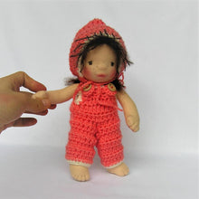 Laden Sie das Bild in den Galerie-Viewer, Irene Waldorf Girl Little Doll - Unique handmade toy