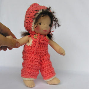 Irene Waldorf Girl Little Doll - Unique handmade toy