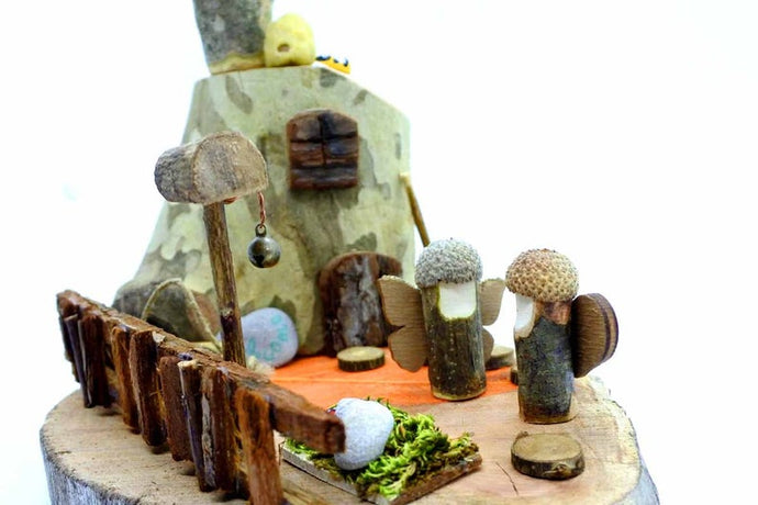 Fairy Tree House- Waldorf Handmade Unique Toy