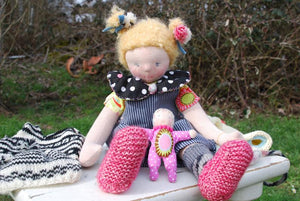 Luzie Waldorf Big Doll - Handmade Unique Toy OOAK