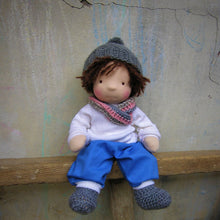 Laden Sie das Bild in den Galerie-Viewer, Emile Waldorf Boy Big Doll - Unique handmade toy