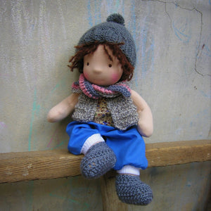 Emile Waldorf Boy Big Doll - Unique handmade toy