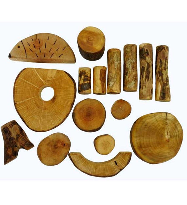 16 Handmade Natural Wooden Building Blocks Waldorf Unique Toy