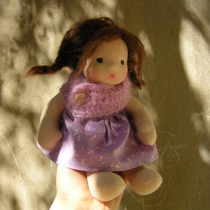 Lola Waldorf Girl Little Doll - Unique handmade toy