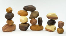 Load image into Gallery viewer, 17 Pieces Wooden Tumi Ishi Set Handmade Stacking Stone -Open-ended Toy