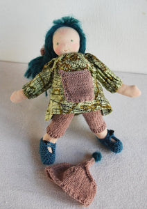 Emily Waldorf Little Doll and Mermaid OOAK - Unique handmade toy