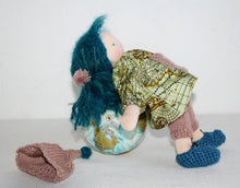 Laden Sie das Bild in den Galerie-Viewer, Emily Waldorf Little Doll and Mermaid OOAK - Unique handmade toy
