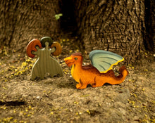 Load image into Gallery viewer, Dragon - Fairy Wooden Handmade Montessori Waldorf Open-ended Toy