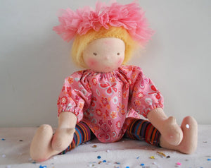 Tessa Waldorf Big Doll - Unique handmade toy