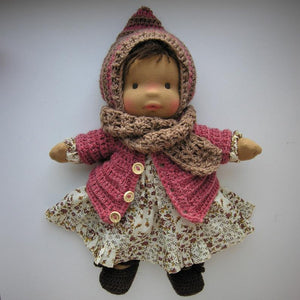 Erhi Waldorf Girl Big Doll - Unique handmade toy