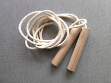 Load image into Gallery viewer, Natural Beechwood Jump Rope -Handmade Montessori Active Play Materials