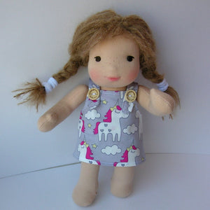 Gea Waldorf Girl Little Doll - Unique handmade toy
