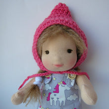Charger l'image dans la galerie, Gea Waldorf Girl Little Doll - Unique handmade toy