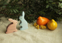 Load image into Gallery viewer, Rabbit Family - Wooden Handmade Montessori Open-ended Toy