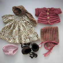 Load image into Gallery viewer, Erhi Waldorf Girl Big Doll - Unique handmade toy - clothes