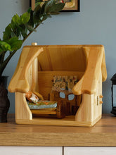 Load image into Gallery viewer, Wooden dollhouse with furnitures and gnome - Handmade Unique toy