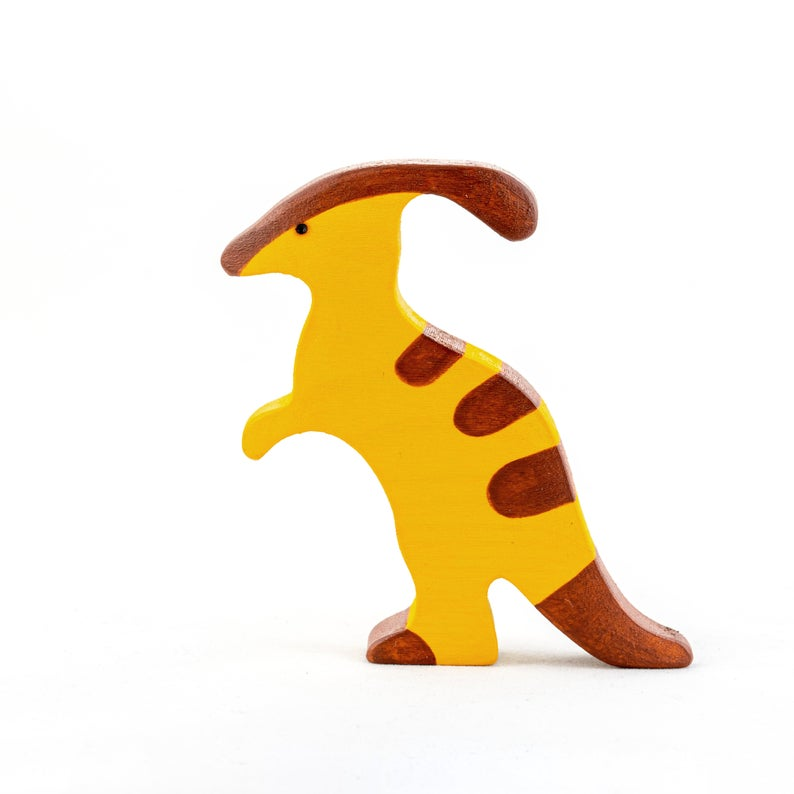 The Parasaurolophus - Wooden Dino Handmade Montessori Open-ended Toy