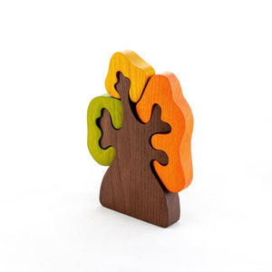Autumn Olive Tree - Wooden Handmade Montessori Open-ended Toy