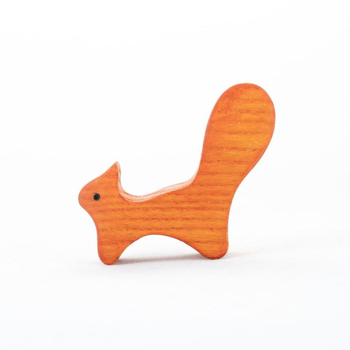 The Baby Squirrel - Wooden Animal Handmade Montessori Open-ended Toy