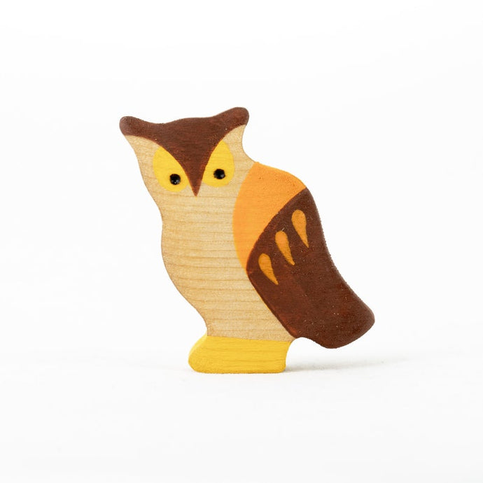 The Owl - Wooden Bird  Handmade Montessori Open-ended Toy