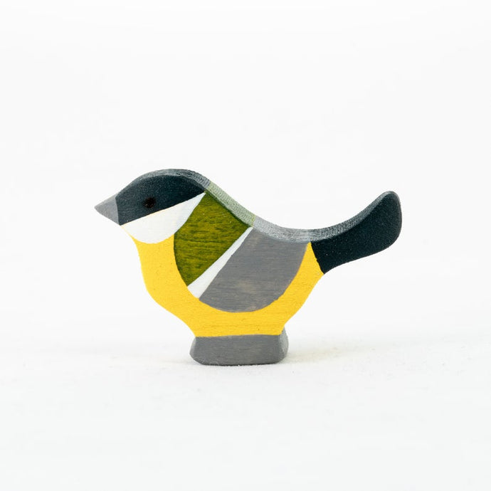 The Great Tit - Wooden Bird  Handmade Montessori Open-ended Toy