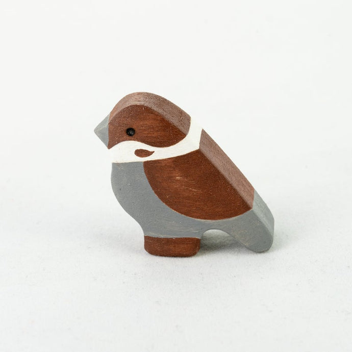 The Tiny Sparrow - Wooden Bird  Handmade Montessori Open-ended Toy