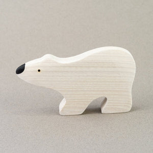 The White Bear - Wooden Animal Handmade Montessori Open-ended Toy